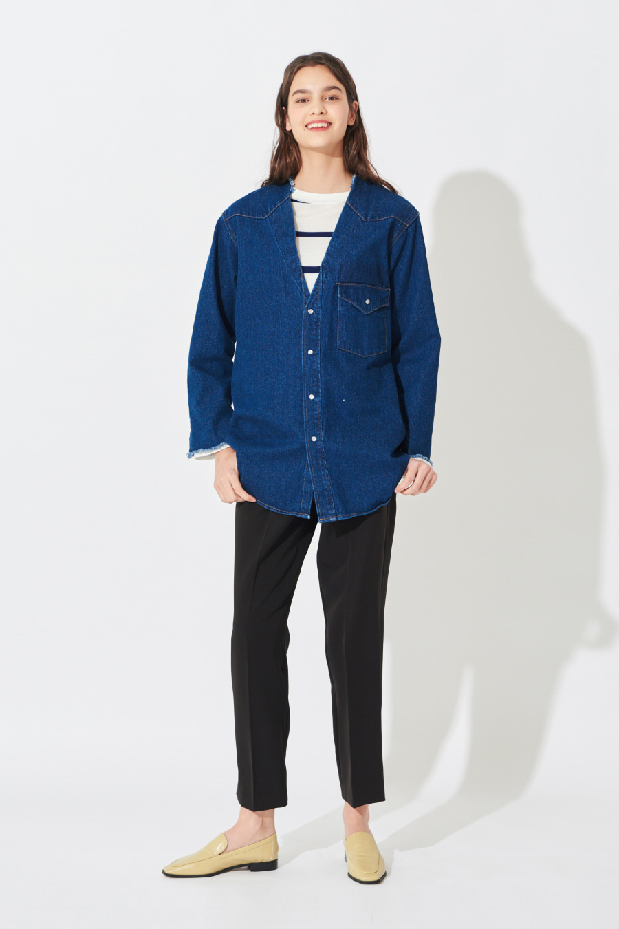 유라고 URAGO Deep Color Denim Shirt