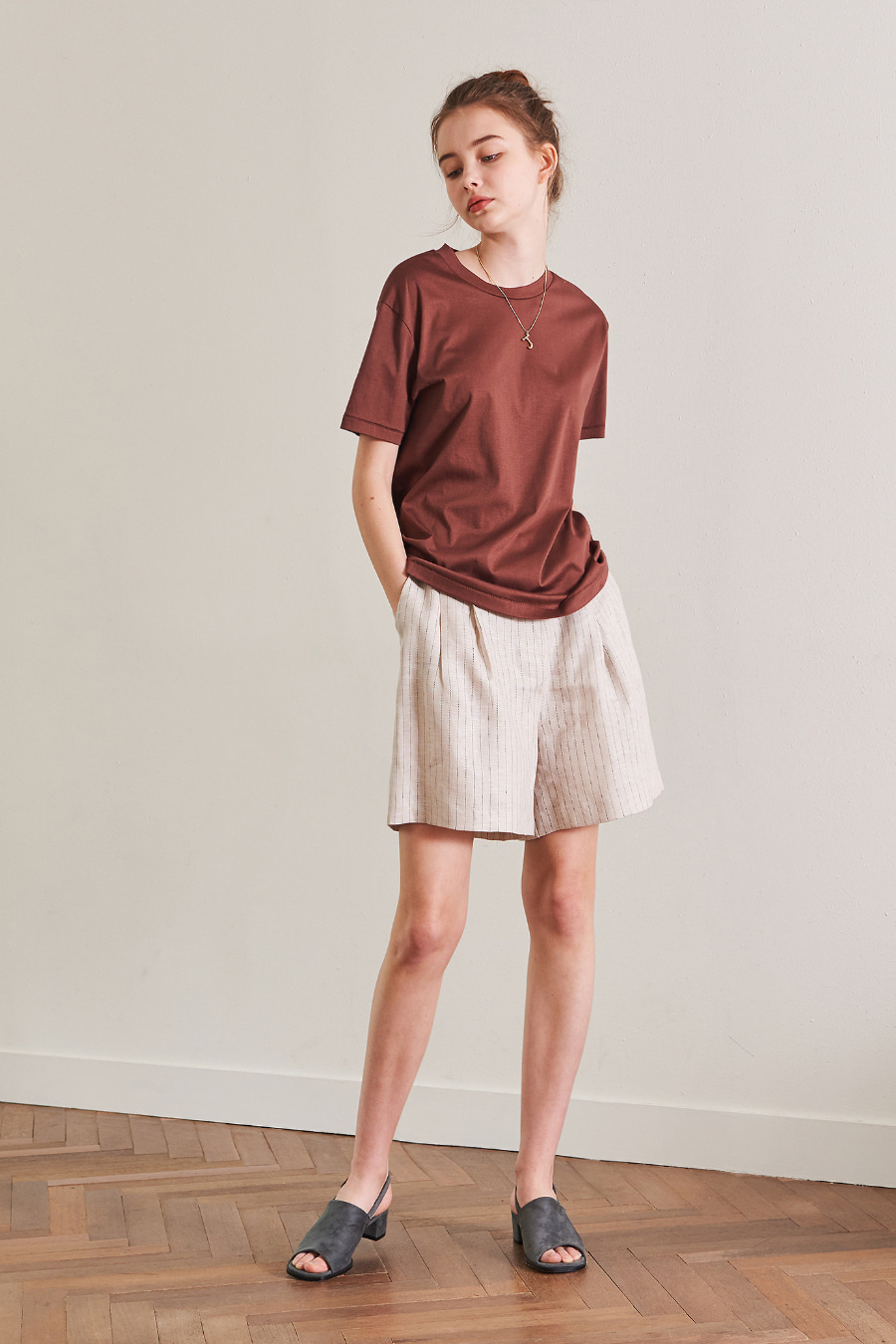 유라고 URAGO Mini-Ear Stripe Short Pants