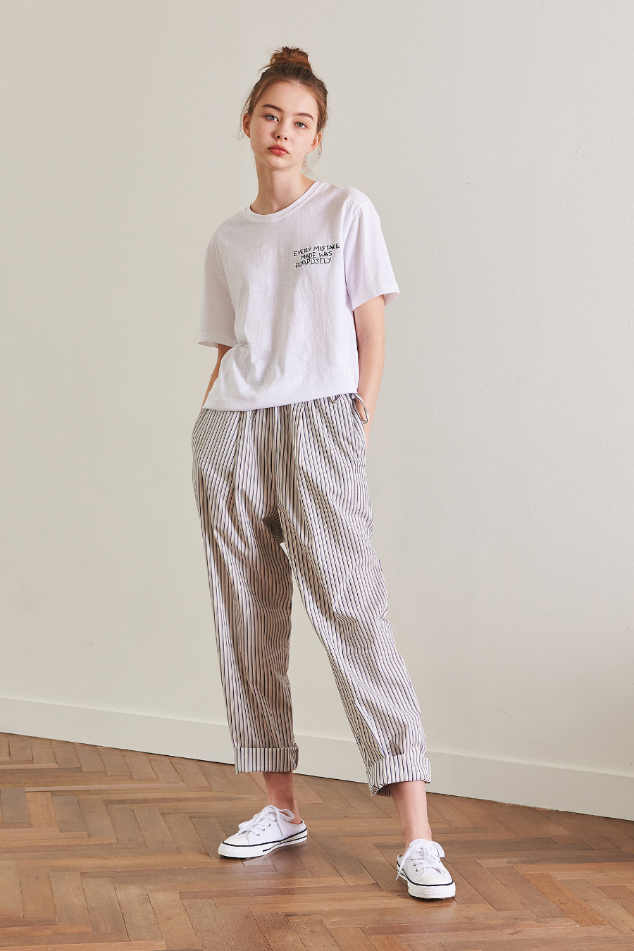 유라고 URAGO Striped cotton pants