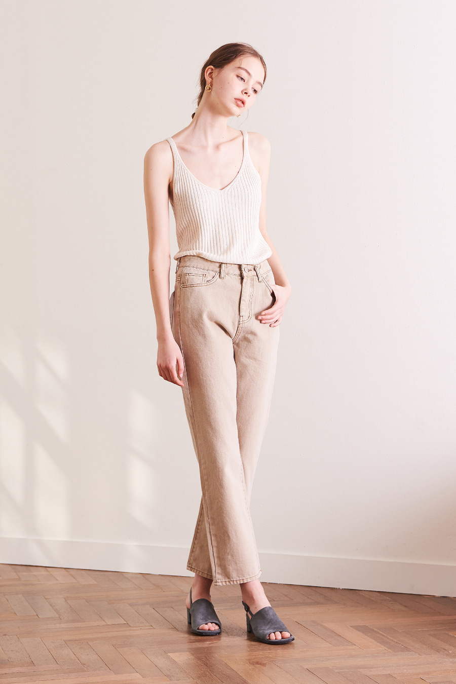 유라고 URAGO Color stitch cotton pants