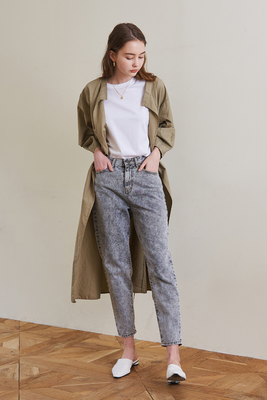 유라고 URAGO Gray Cotton Jean