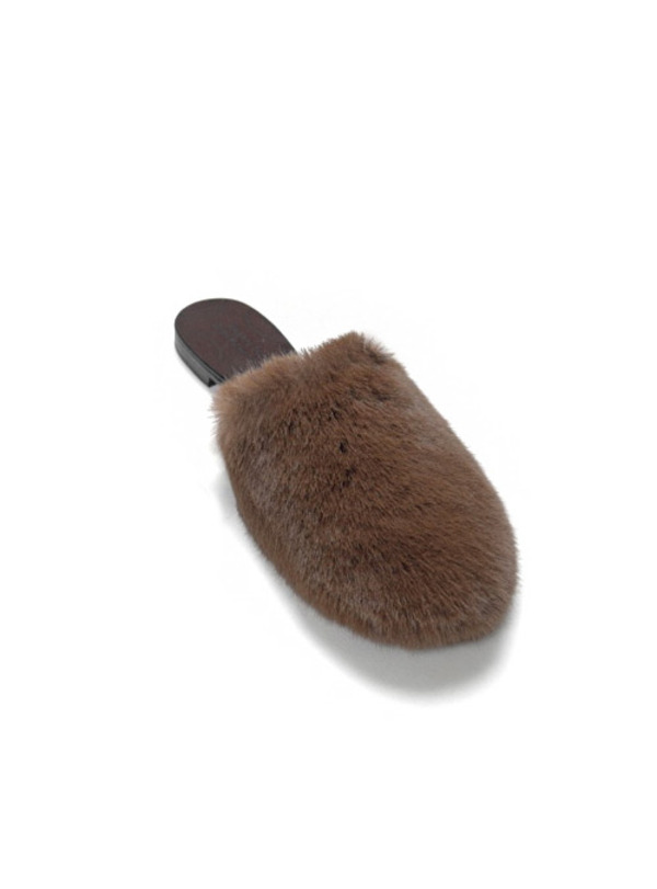 URAGO Urago hand-made fur slippers