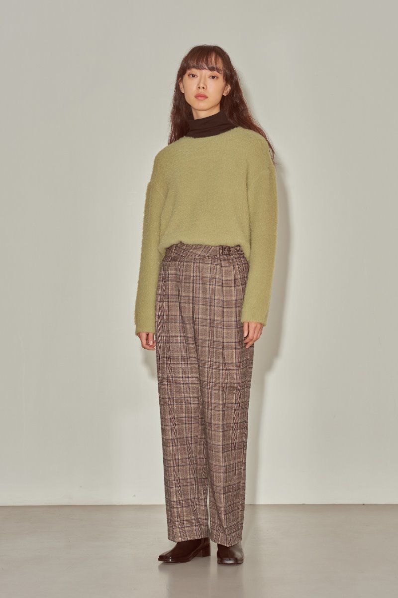 유라고 URAGO Leeds Check Belt Pants