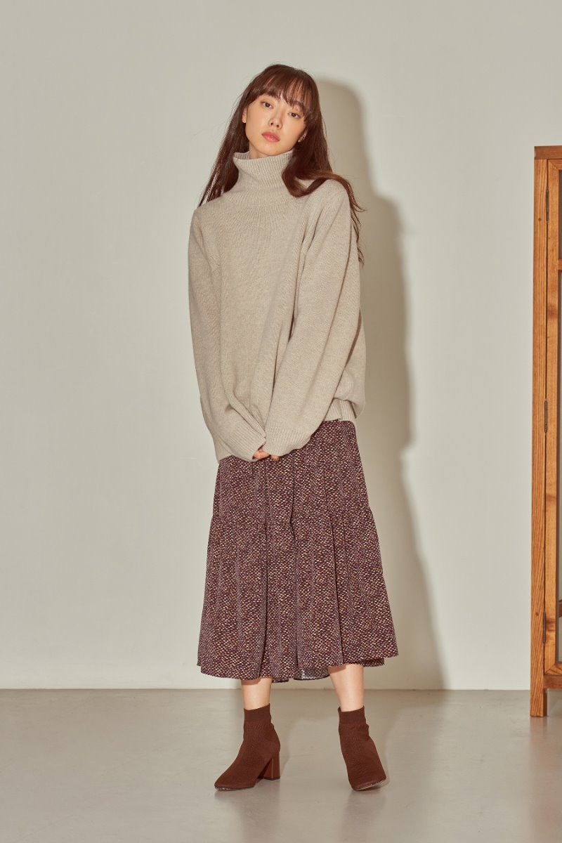 유라고 URAGO Plain Turtleneck Knit