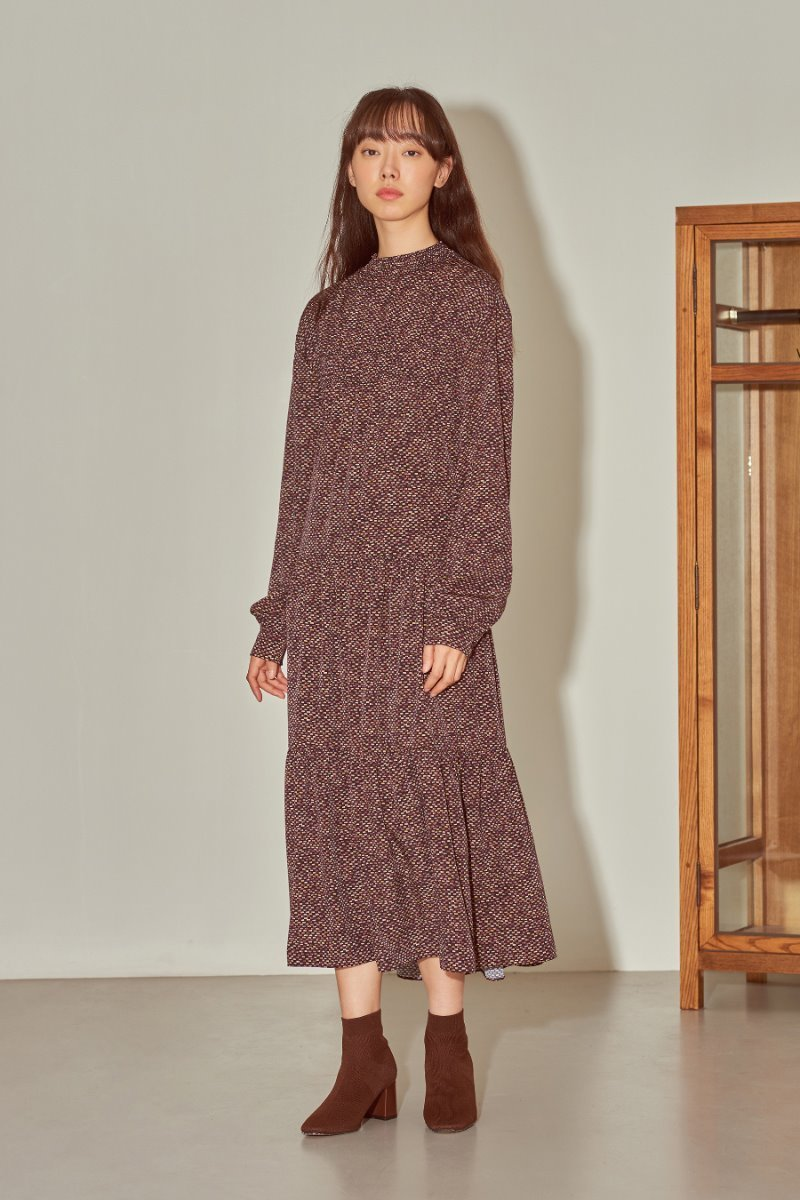 유라고 URAGO Smoke pattern dress