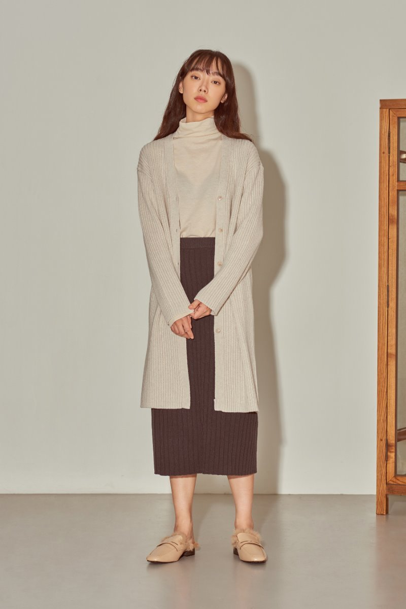 유라고 URAGO Ribbed Long Dress