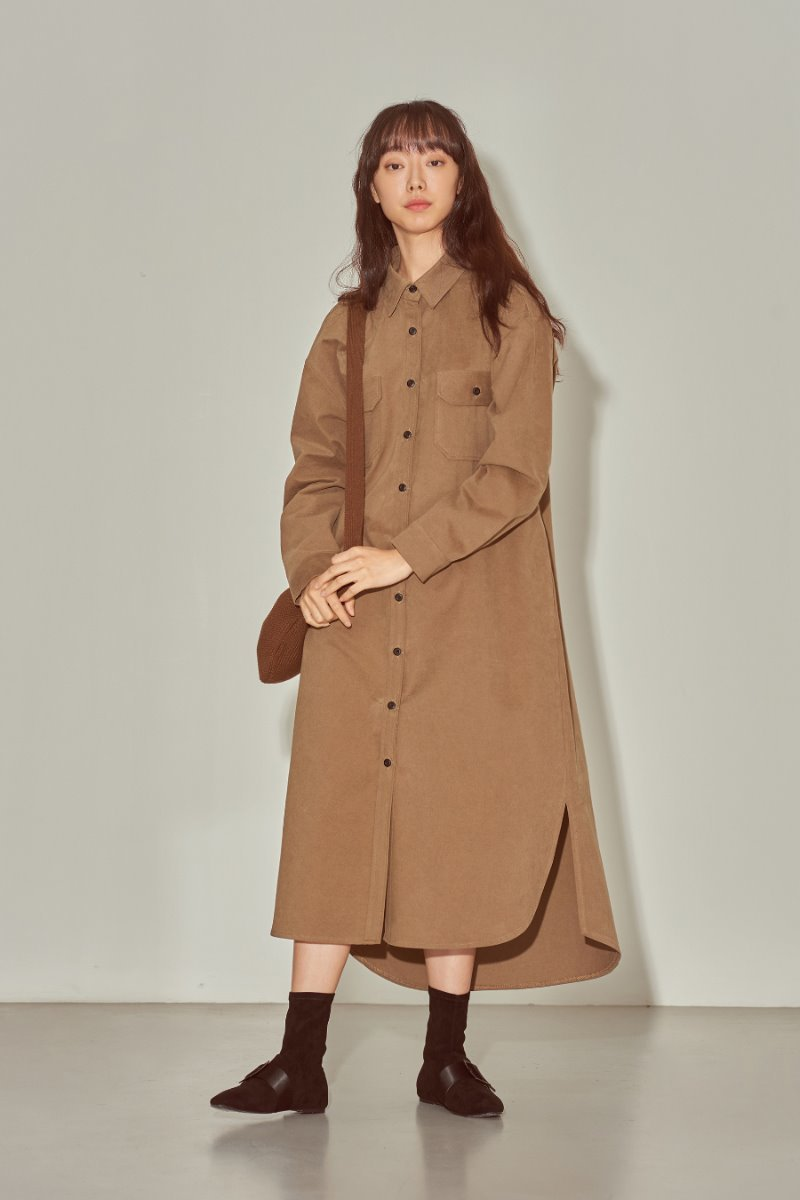 유라고 URAGO Park Shi Long Shirt Dress